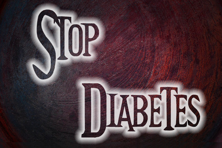 hyperglycemia: Stop Diabetes Concept text on background Stock Photo