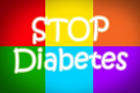 gestational: Stop Diabetes Concept text on background Stock Photo