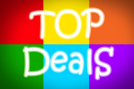 Top Deals Concept text on background photo