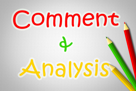 reassessment: Comment And Analysis Concept text on background