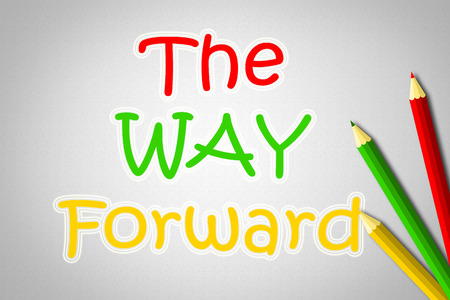 The Way Forward Concept text on background photo