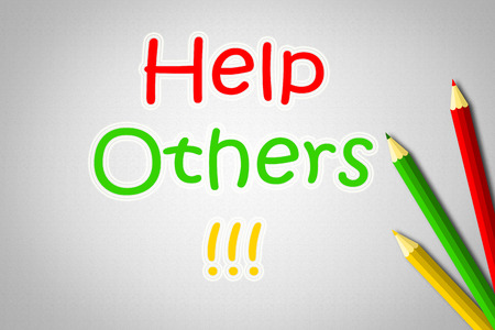 Help Others Concept text on background photo