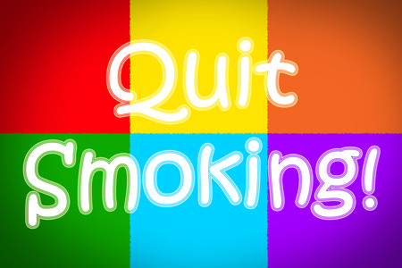 Quit Smoking Concept text on background photo