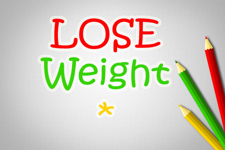 Lose Weight Concept text on background photo