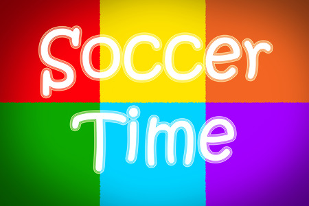 Soccer Time Concept text on background photo