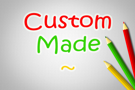 customized: Custom Made Concept text on background