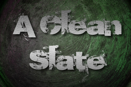 A Clean Slate Concept text on background Stock Photo
