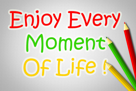 moment: Enjoy Every Moment Of Life Concept text on background Stock Photo