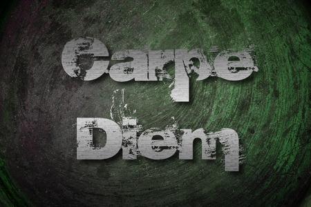 horace: Carpe Diem Concept text on background Stock Photo