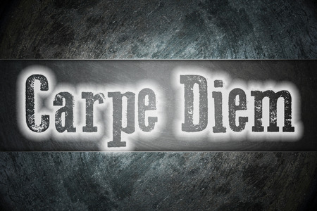 existential: Carpe Diem Concept text on background Stock Photo