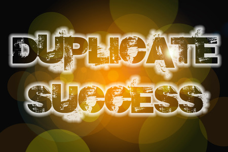 emulate: Duplicate Success Concept text on background