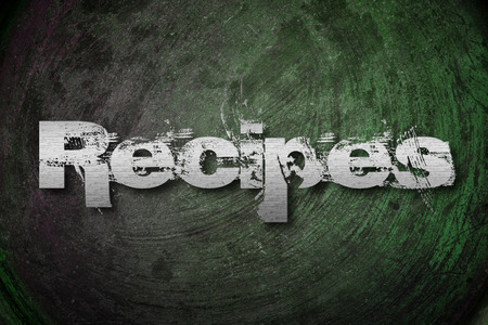 Recipes Concept text on background photo