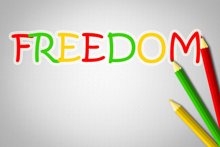 dictatorship: Freedom Concept text on background