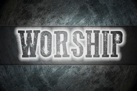 Worship Concept text on background photo
