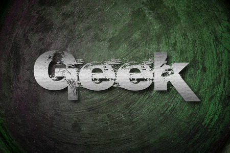 Geek Concept text on background Stock Photo