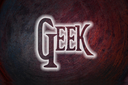 boffin: Geek Concept text on background Stock Photo