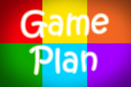 organise: Game Plan Concept text on background
