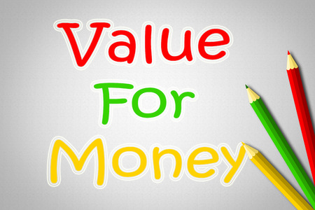 Value For Money Concept text on background Stock Photo