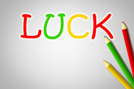 Luck Concept text on background photo