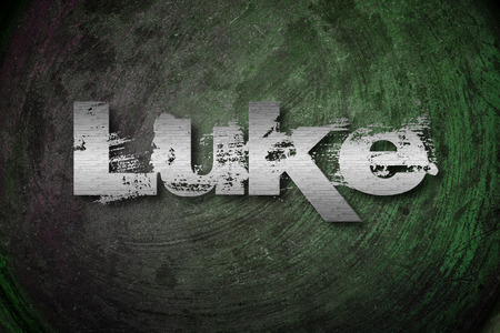 gospels: Luke Concept text on background