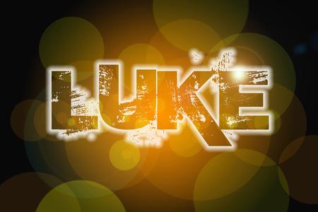 gospels: Luke Concept text on background
