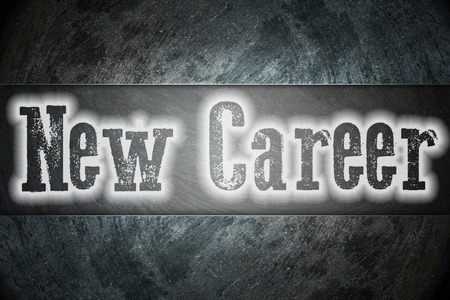 New Career Concept text on background photo