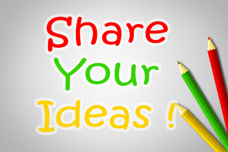 Share Your Ideas Concept text on background Stock Photo