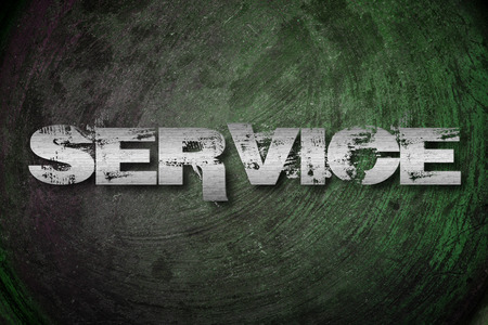 Service Concept text on background photo