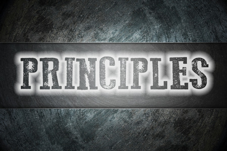 Principles Concept text on background