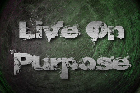Live On Purpose Concept text on background photo