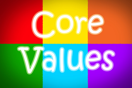 scruples: Core Values Concept text on background