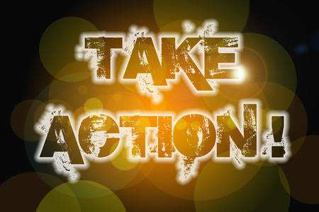 take action: Take Action Concept text on background