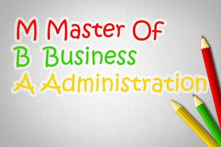 administracion empresarial: Master Of texto Administraci�n de Empresas en el fondo Concepto