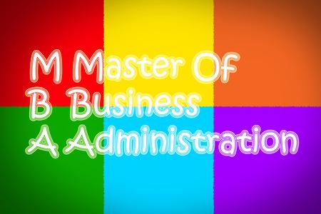 administracion empresarial: Master Of texto Administraci�n de Empresas de concepto sobre fondo Foto de archivo