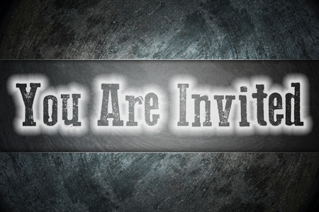 you are invited: You Are Invited Concept text on background Stock Photo