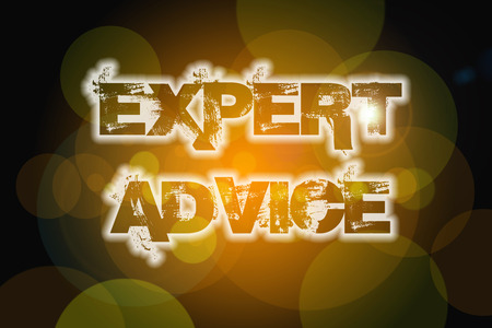 Expert Advice Concept text on background photo