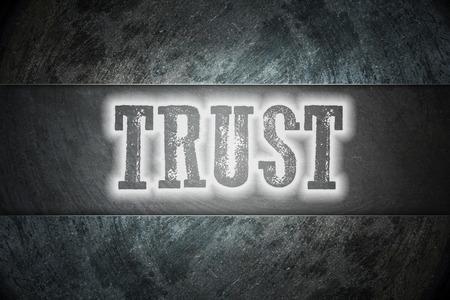 confianza concepto: Texto Fideicomiso Concept en el fondo Foto de archivo