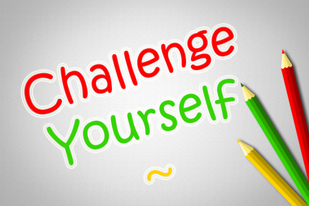 Challenge Yourself Concept text on background