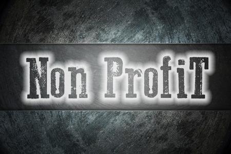 non: Non Profit Concept text on background