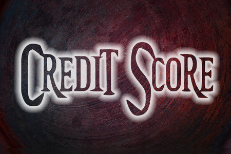 Credit Score Concept text on background photo