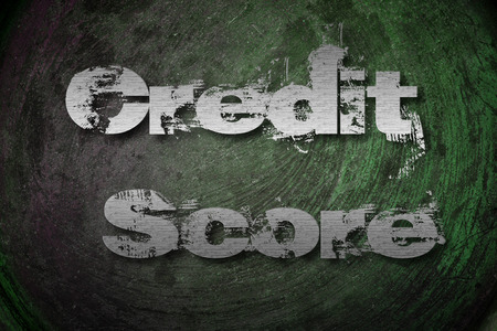 bank records: Credit Score Concept text on background