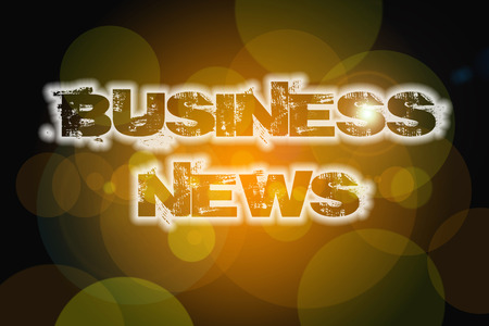 tidings: Business News Concept text on background Stock Photo