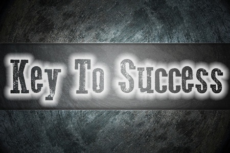 Key to success Concept text on background photo