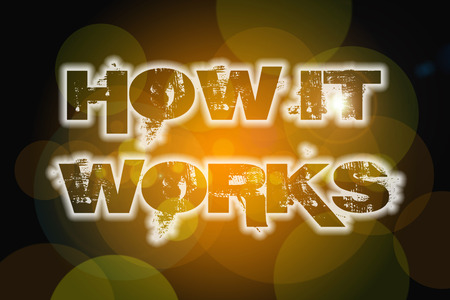 How It Works Concept text on background photo
