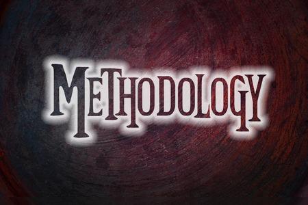 methodology: Methodology Concept text on background Stock Photo