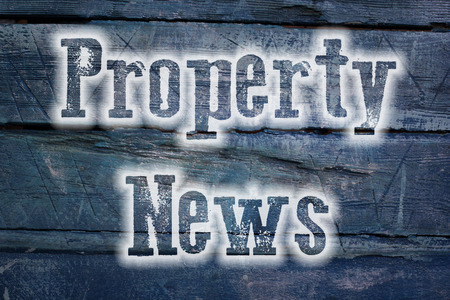 press agent: Property News Concept text on background Stock Photo