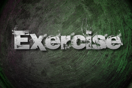 Exercise Concept text on background photo