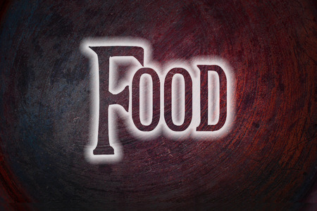 Food Concept text on background photo