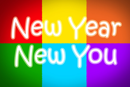 New Year New You Concept text on background