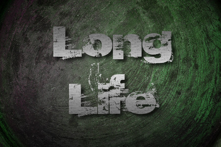 long life: Long Life Concept text on background